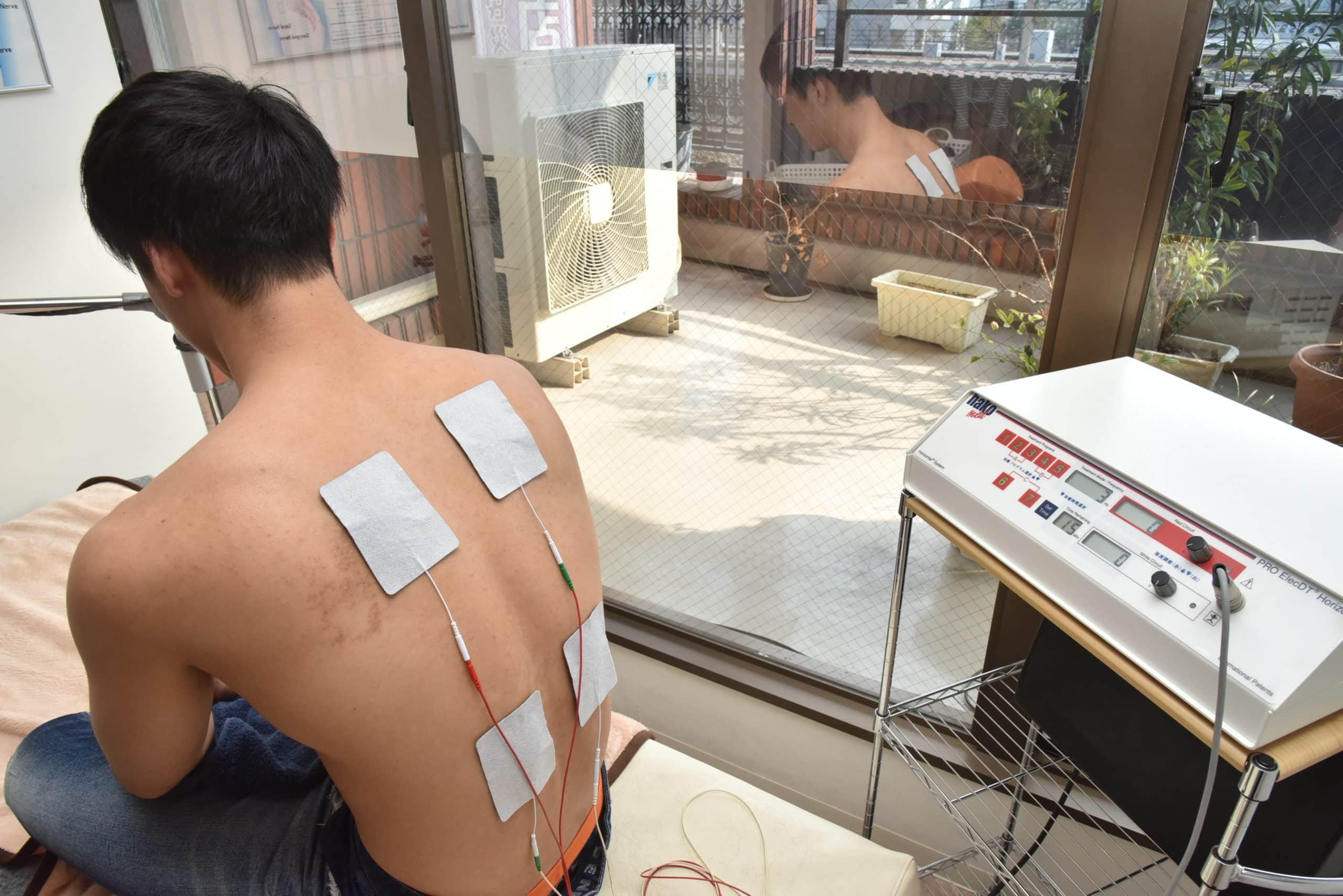 wadit電気治療器による施術